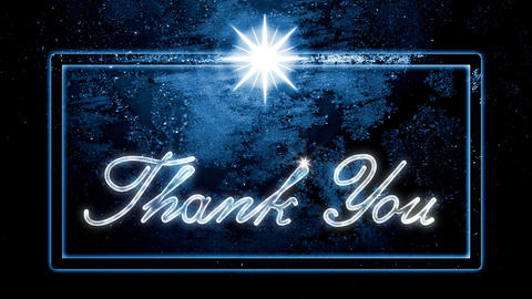 Classic Thank You Christmas New Year Style Looping Animation (Seamless). Christm Animation