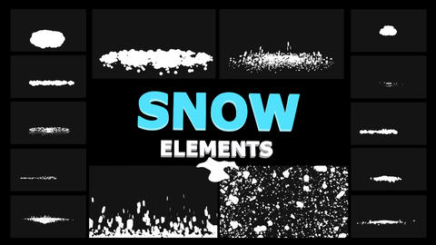 Cartoon Snowflakes Apple Motion Template