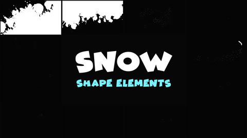Magic Snow Elements Apple Motion Template
