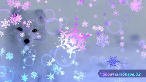 雪の結晶シェイプ5つ テンプレート プラグイン不要 After Effectsテンプレート