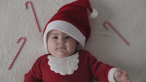 merry xmas, happy new year, infants, childhood, holidays concept - close-up Live Action
