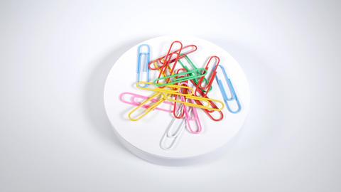 Color paper clip018 Live Action
