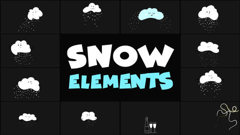 Cartoon Snow Clouds Apple Motion Template