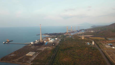 Power station. Jawa, Grati CCGT Power Plant Indonesia Live Action