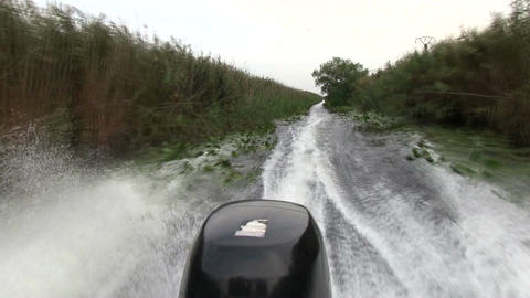 Delta Danube, Romania, riding with the boat and getting stuck in the mud Live Action