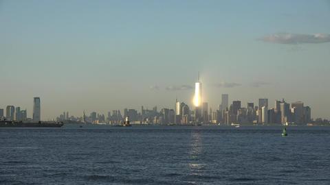 Shining Light In New York City Footage