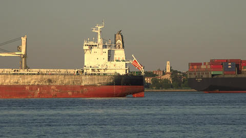 Cargo Ship And Freight Footage