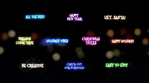 Christmas Magic Titles After Effects Template