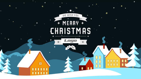 Christmas Snow Greetings After Effects Template