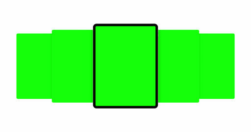 Tablet Computer With Blank Green Sliding App Screens Animation