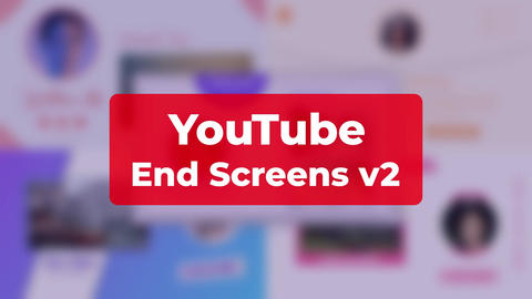 YouTube End Screens v2 After Effects Template