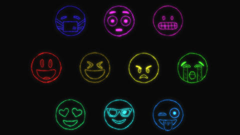 Hand Drawn Emojies After Effects Template