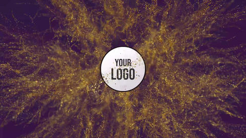 Glitter Particles Explode Logo Reveal After Effects Template