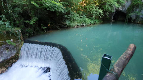Magical Nature of Serbia. Krupajsko Vrelo Natural Spring and Pool With Aqua Blue Live Action