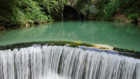 Krupajsko Vrelo, Serbia. Magical Natural Springs and Waterfall in Green Nature Live Action