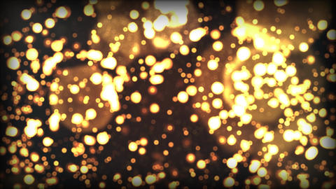 Christmas gold lights loop background CG動画素材