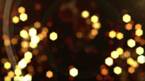 Elegant Gold Bokeh Loop Background Animation