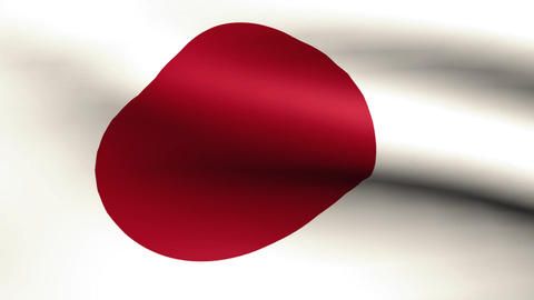 Flagge Japan Animation