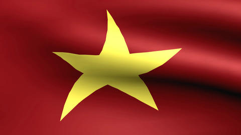 Flagge Vietnam Animation
