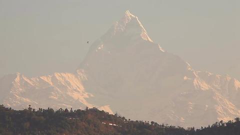 Machapuchare Peak Sunrise HD Footage