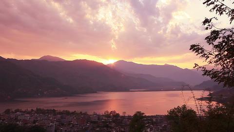 Pokhara Lake Sunset HD Footage