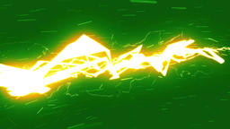 Lightning Strikes / Green screen background / Loop animation Image