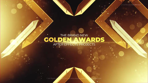 Gold Awards Titles After Effects Template