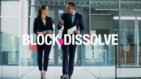 Business Promotion -Block dissolve-