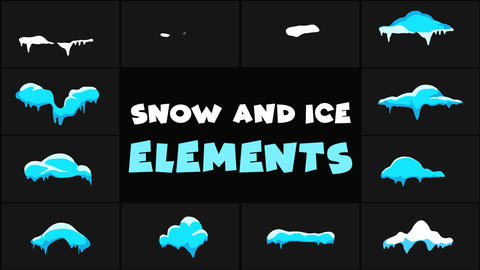 Snow And Ice Elements After Effects Template