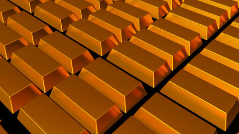 Fine gold bars. Seamless loop Animation