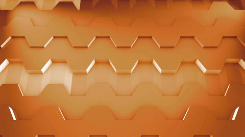 3D Loop Hexagonal Motion Graphic Background. Abstract background Animation