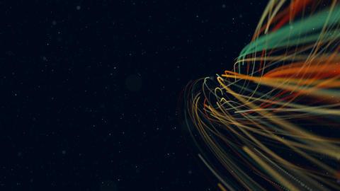 Animated spiral element. Streak element Stock Video Footage