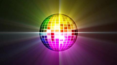 disco mirror ball rotating, loop animation Stock Video Footage