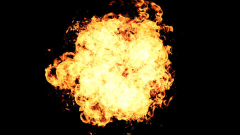 Realistic Fire ball explosion. 4K Resolution Animation