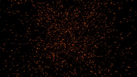 Hot glowing embers. Glittering particles sparkle Animation