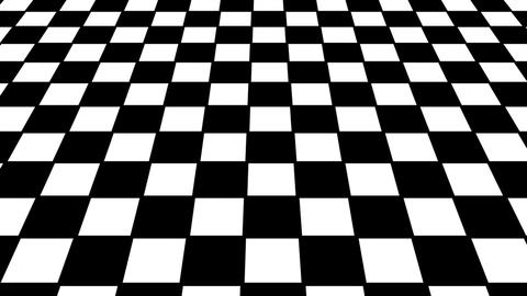 Virtual floor chess background. Seamless loop Animation