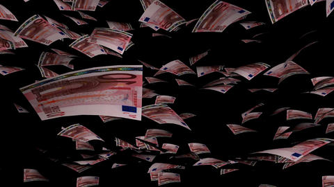 Animation of Euro fall on background Animation