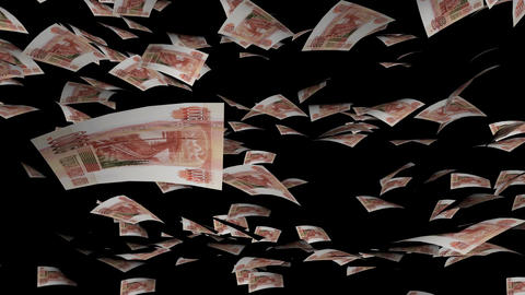 Animation of Ruble fall on background Animation