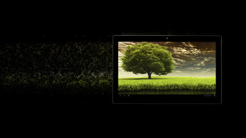 Tablet PC dispersion. 3d Rendered. Just add your title, text, wishes or logo Animation