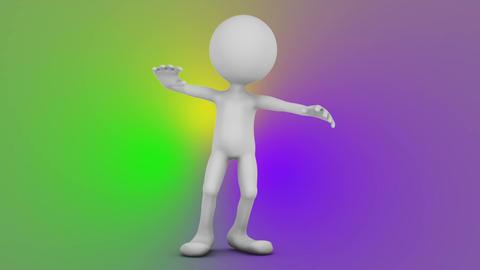Dancing faceless man Stock Video Footage
