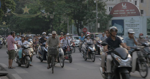 The city of motorbikes. Hanoi, Vietnam Footage