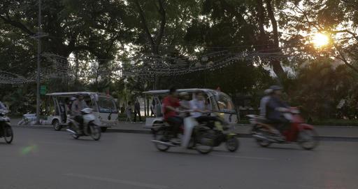 Busy road in Hanoi, Vietnam Footage