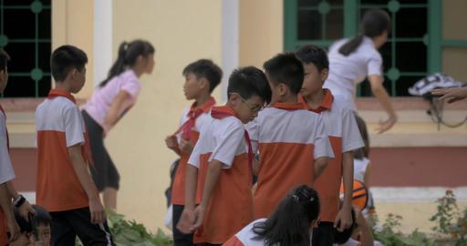 Vietnamese children at physical education. Hanoi, Vietnam Footage