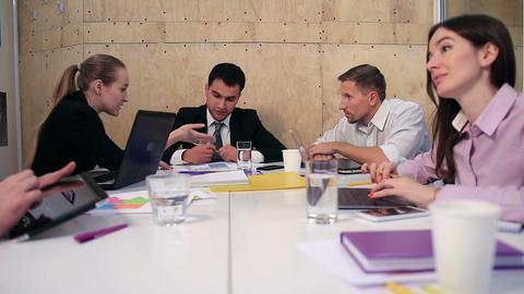 Business people brainstorming on meeting at office Footage
