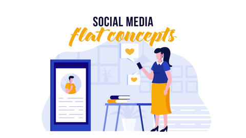 Social media - Flat Concept After Effects Template