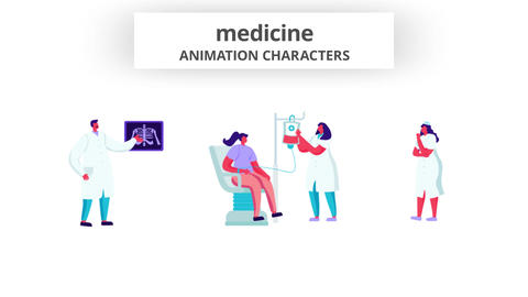 Medicine - Character Set After Effects Template