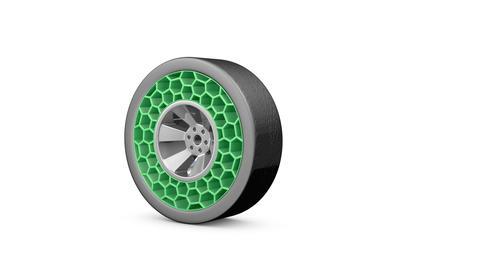 High tech airless wheel Footage