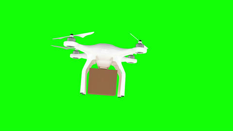 Digitally generated image of drone carrying cardboard box Animation
