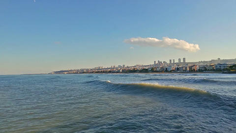 Time lapse of Atakum Beach, Samsun city, Turke Footage