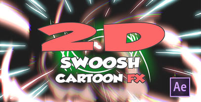 Cartoon Swoosh After Effects Templates